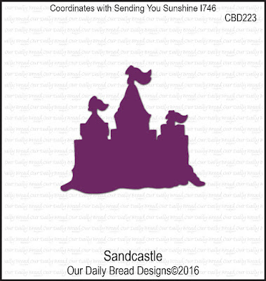 Our Daily Bread Designs Custom Die: Sandcastle