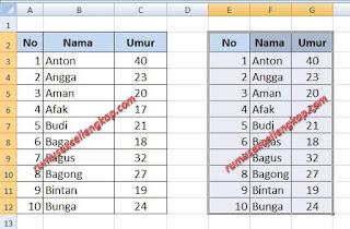 cara 4 menyalin data tabel excel