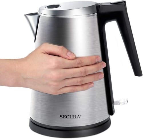 Secura Double Wall Stainless Steel Electric Kettle