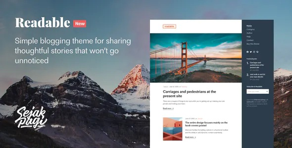 Download Simple Blogging Theme for Ghost