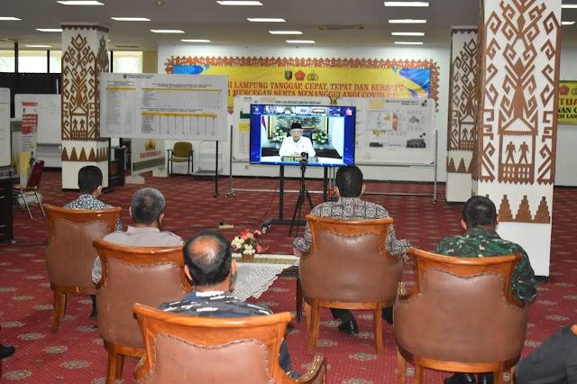 Kasrem 043/Gatam ikuti Peringatan Hari Otonomi Daerah XXV Tahun 2021 dengan metode virtual meting se-Indonesia