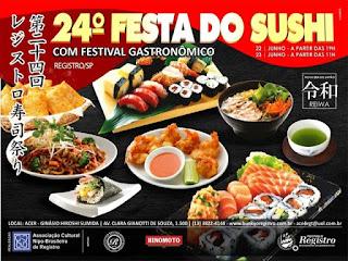 24ª Festa do Sushi de Registro-SP trará no cardápio o Chicken Gobô