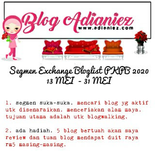 Segmen Exchange Bloglist PKPB 2020 by Blog Adianiez