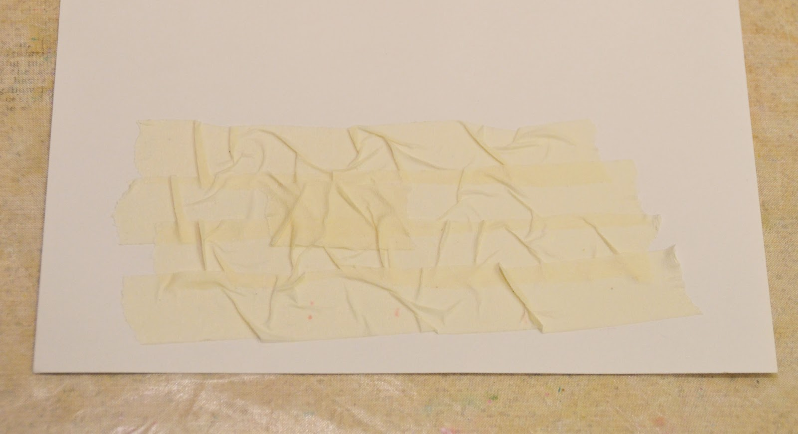 Do More With Less: Masking tape texture....with Miae Rowe!