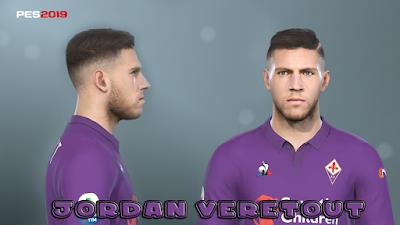 PES 2019 Faces Jordan Veretout by Prince Hamiz