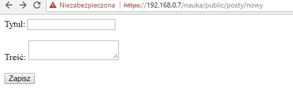 Szkoleniowa wersja przykładowego formularza html