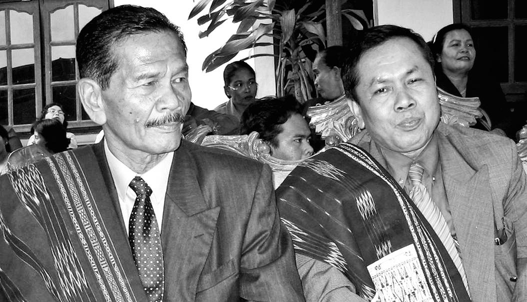 Bupati Toba Samosir Monang Sitorus dan DL Sitorus di Balige