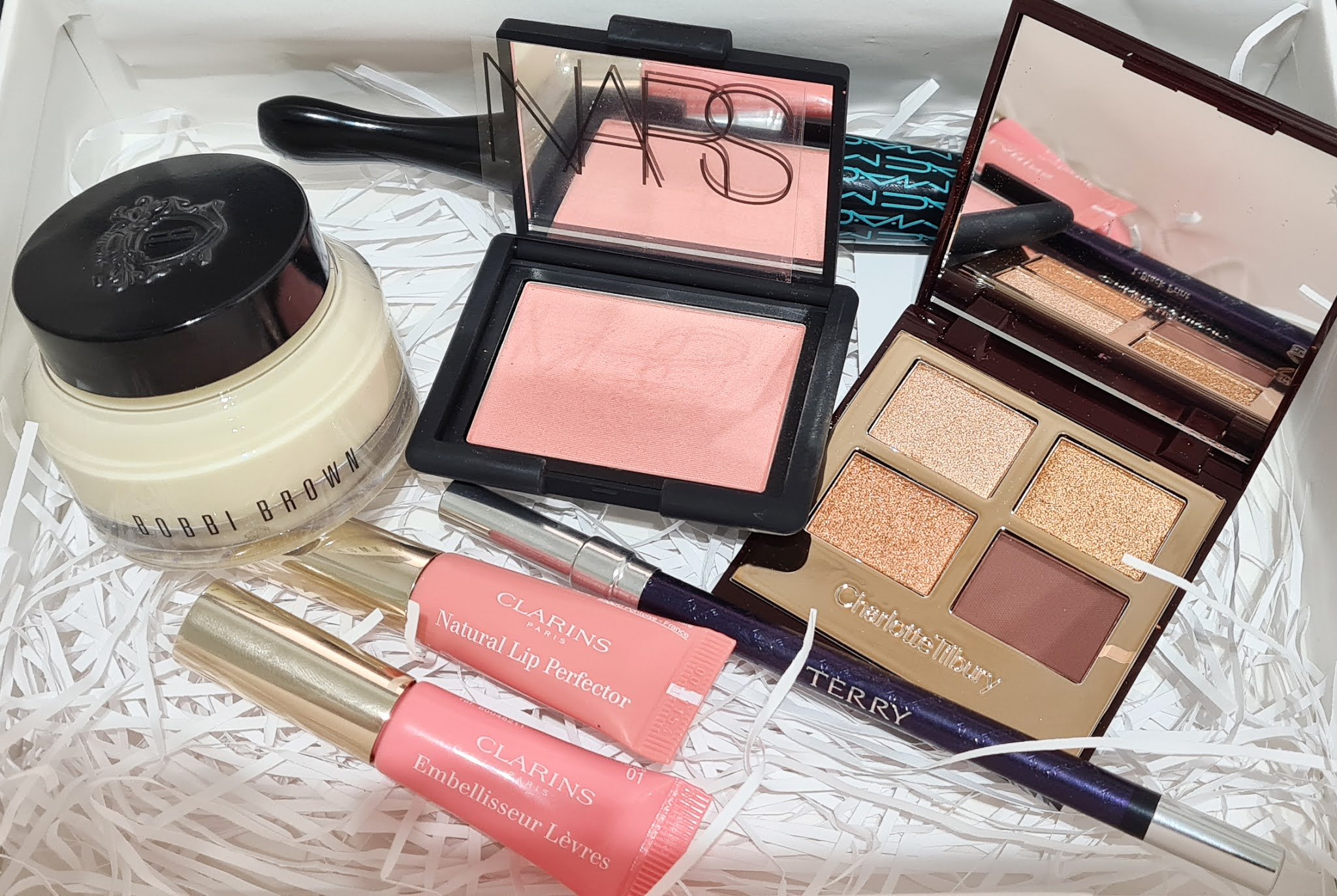 The contents of the My John Lewis x Hannah Martin beauty box