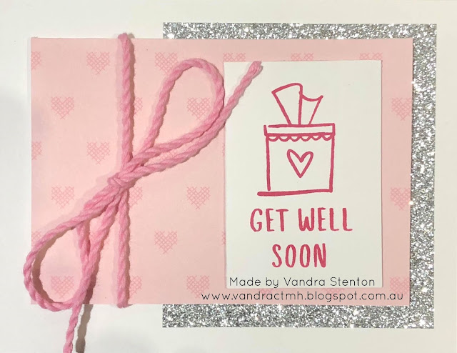 #CTMHVandra, #ctmh, #ctmhcrafton, get well, Colour Dare Challenge, animals, Australian, thank you, shimmer trim, twine, glitter,