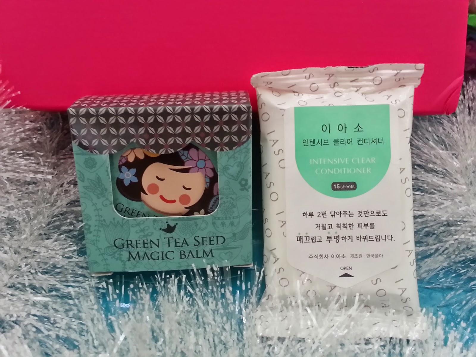 Shara Shara Green Tea Seed Magic Balm and IASO Intensive Clear Conditioner