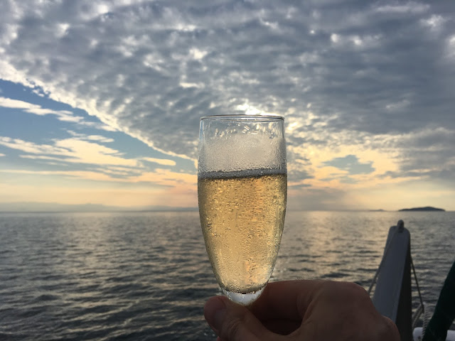 Prosecco at the ready - Sunset cruise, Lake Malawi with Danforth Yachting