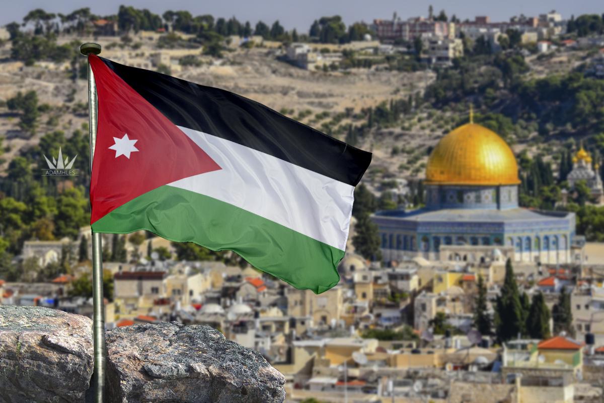 علم الاردن في القدس اجمل خلفيات الاردن Flag of Jordan in Jerusalem