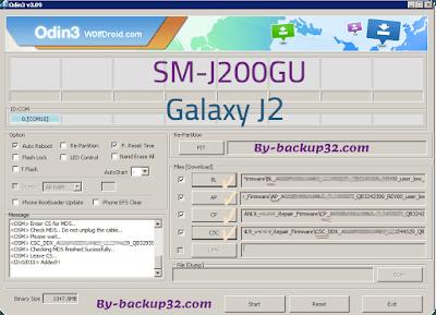 سوفت وير هاتف Galaxy J2 موديل SM-J200GU روم الاصلاح 4 ملفات تحميل مباشر