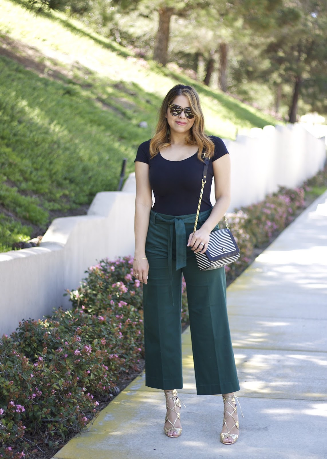 Spring 2016 trends, the culottes trend, sandal heels outfit