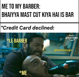Now I'll definitely check my CC before going to barber | guddu bhaiya | Mirzapur 2 Memes(from Mirzapur 2 trailer)