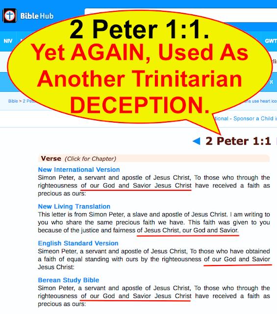 2 Peter 1:1 Yet AGAIN Another Trinitarian misunderstanding.