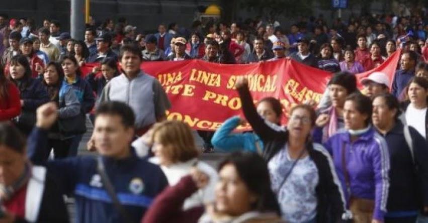Sutep y facción de Pedro Castillo se disputan autoría de logros obtenidos tras huelga indefinida