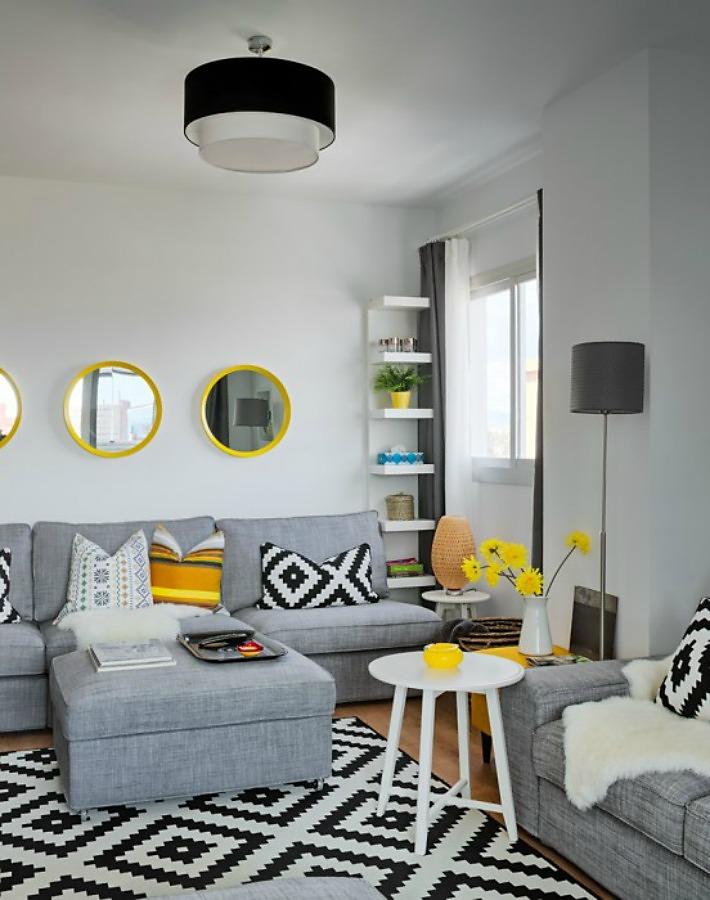 Decoraci n f cil vivienda decorada integramente con for Casas decoradas con muebles de ikea