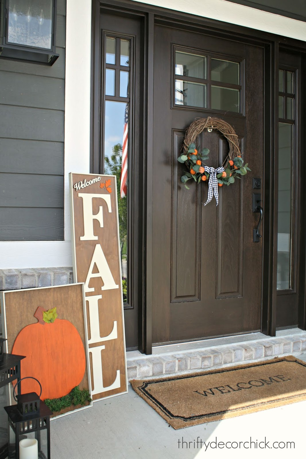 Fall signs for porch using scrap wood