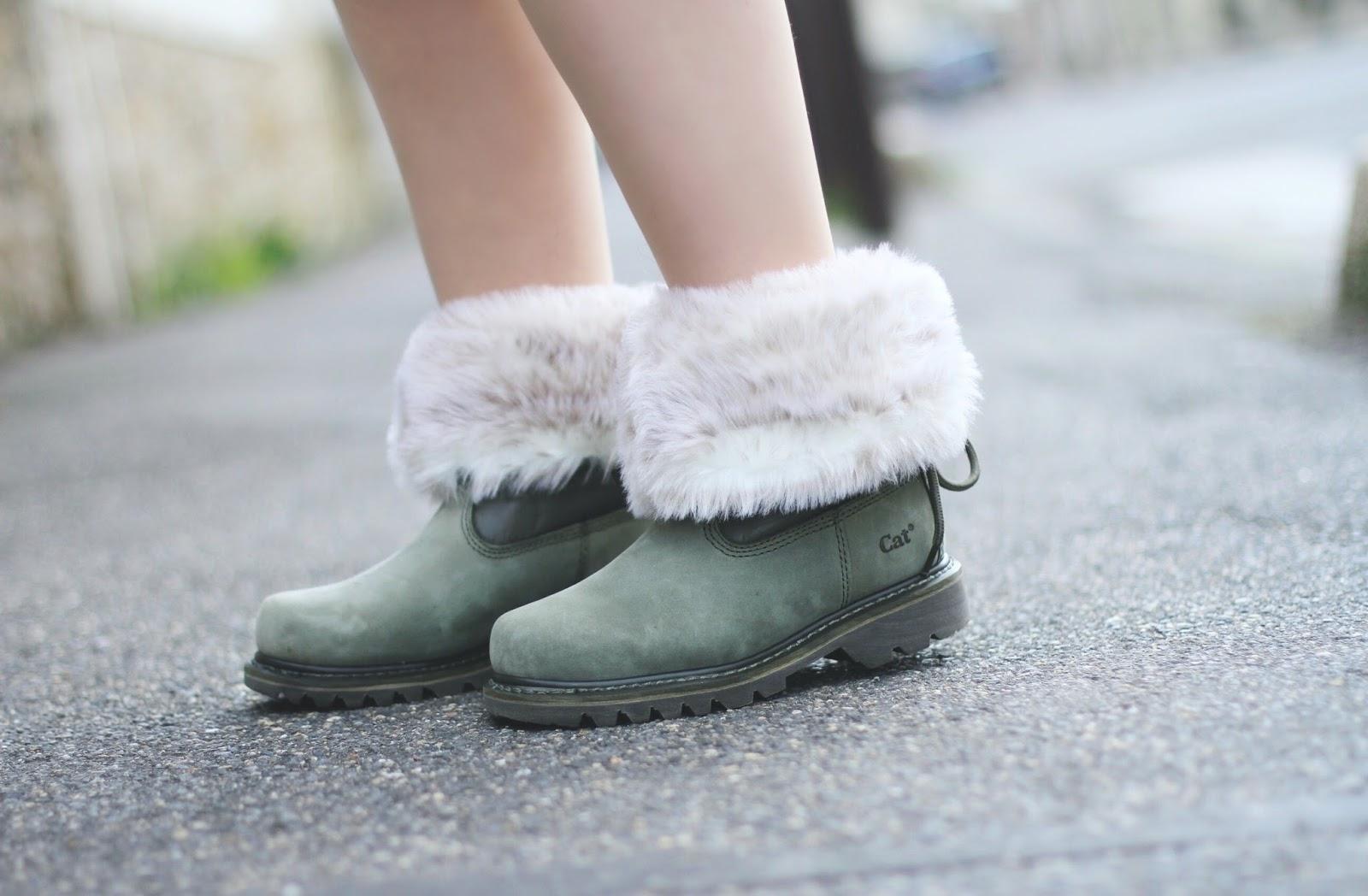CAT footwear bruiser scrunch fur boots