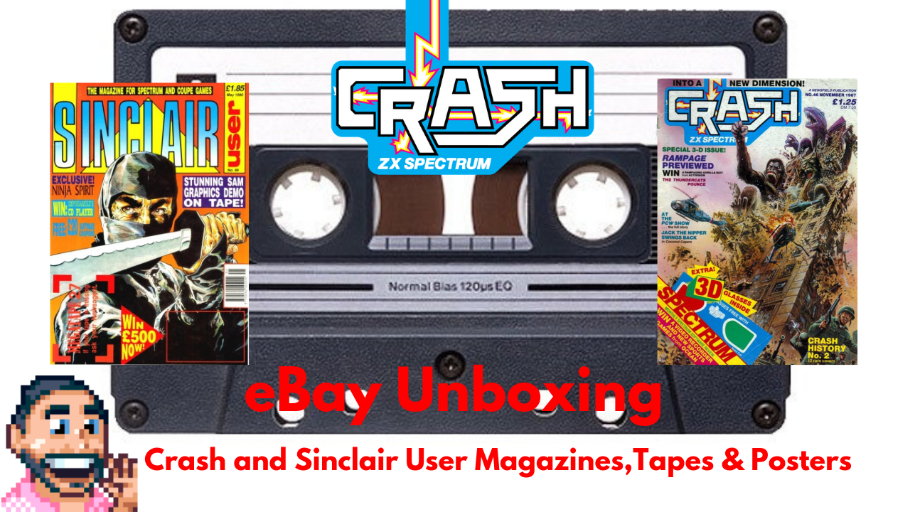 🕹 Crash and Sinclair User Magazines Tapes & Posters eBay Unboxing
