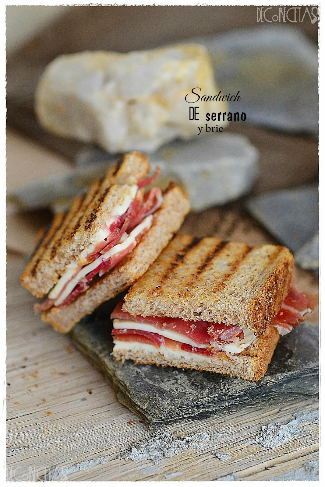 Sandwich de serrano y brie del Asalta Blogs