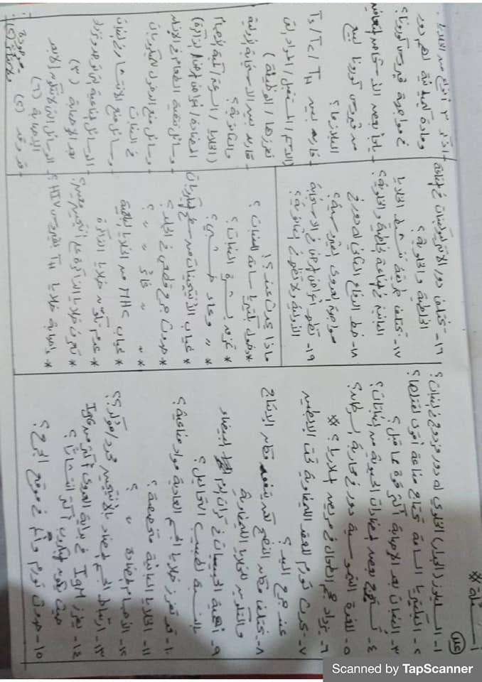 مراجعة المناعة أحياء للثالث الثانوي مستر محرم 14