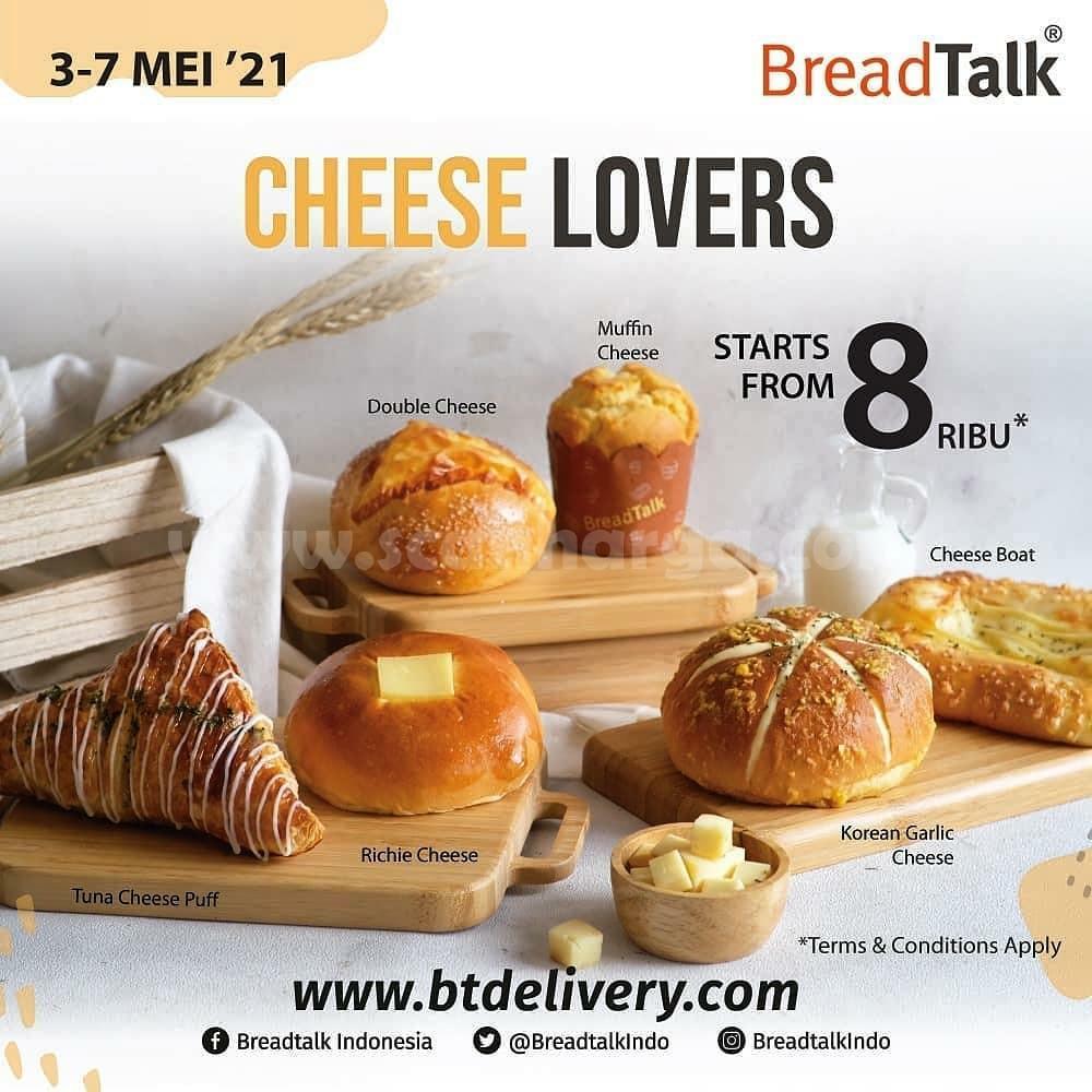 Promo BREADTALK CHEESELOVERS WEEK -  Semua Roti Keju mulai Rp8.000