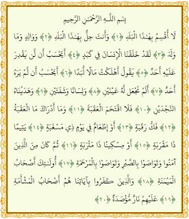 Quran Surat Al Balad, Tafsir Jalalayn