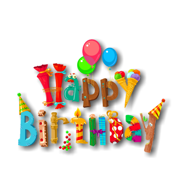 Happy Birthday png text hd