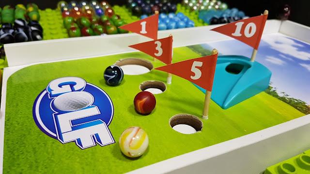 Mini Golf com BOLINHAS de GUDE - Mini TORNEIO com SELEÇÕES de PAÍSES - Marble run