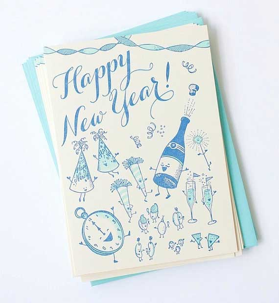 50 Creative New Year Card Designs for Inspiration - Jayce ...