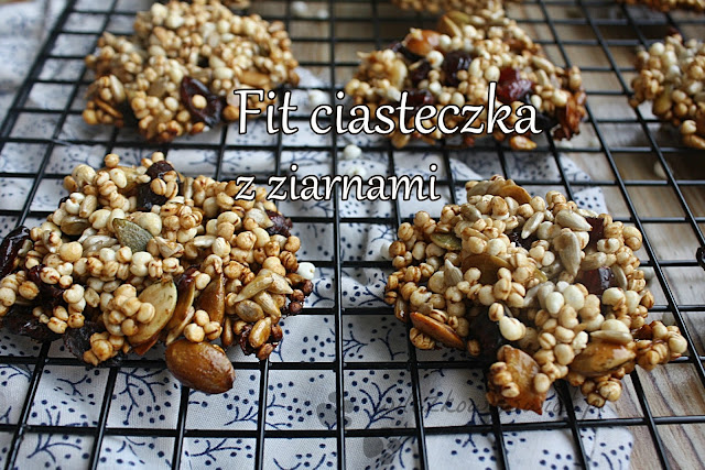 Ciasteczka fit z ziarnami ekspandowanymi