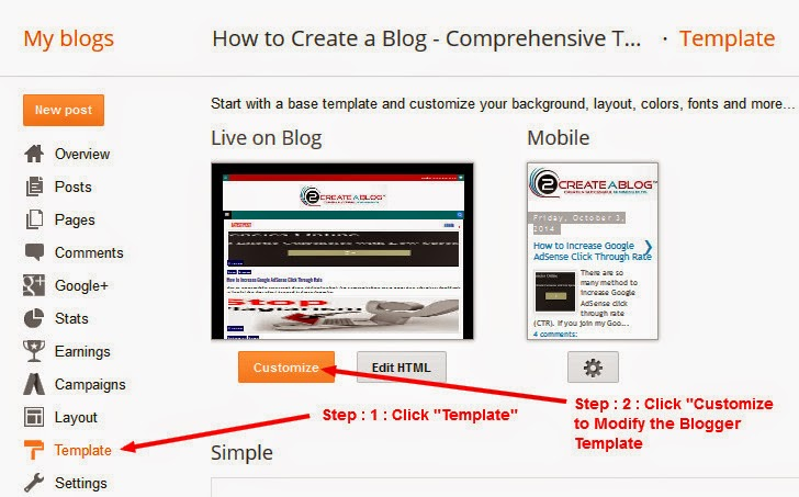How to Customize Blogger Template - How to Customize Your Blogger ...