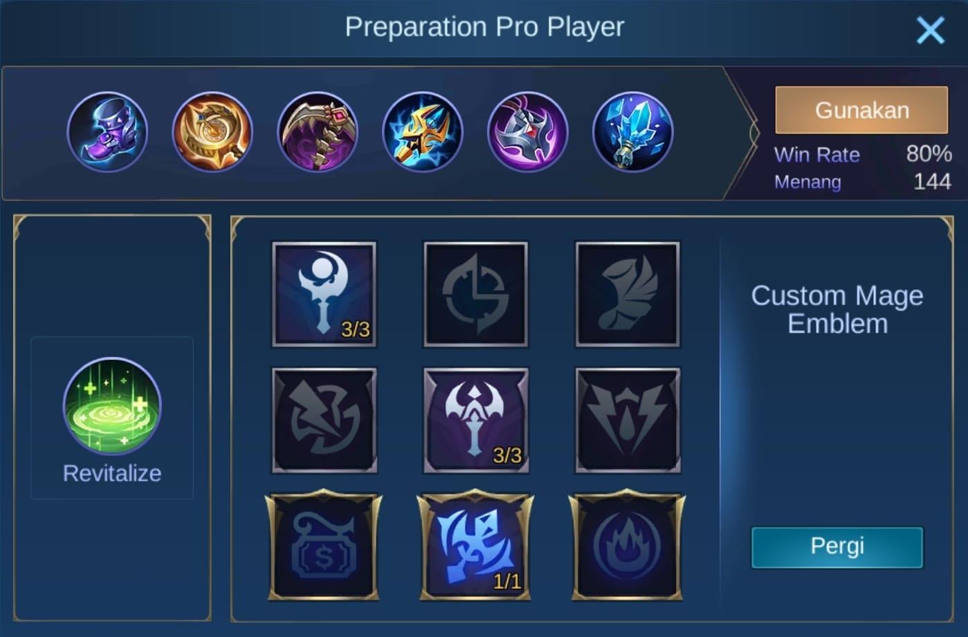 build item kaja mobile legends (ML)