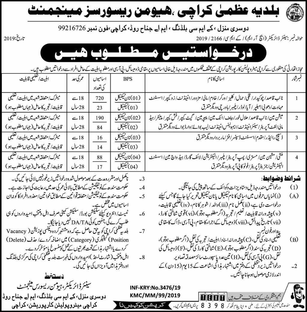 Jobs In Municipal Glory Karachi July 2019