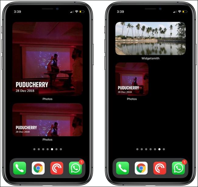 أدوات الصور على جهازي iPhone.