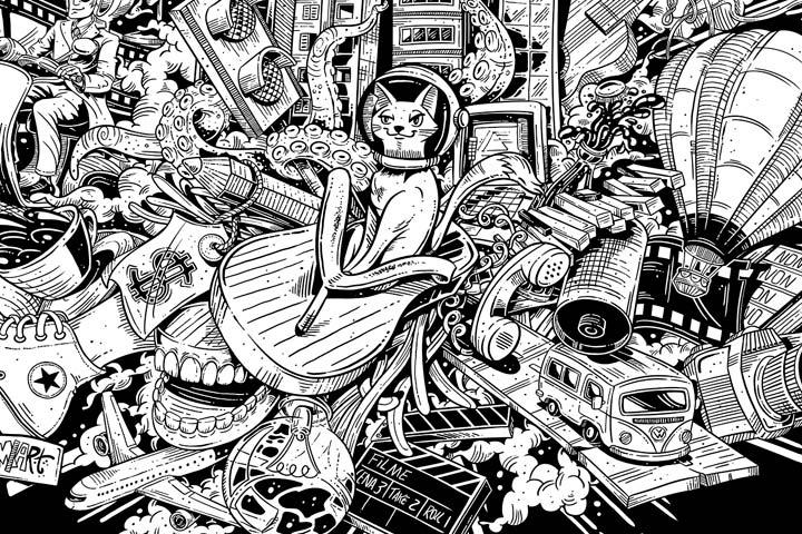 Ilustración, Explosión urbana de Marcelo Anache