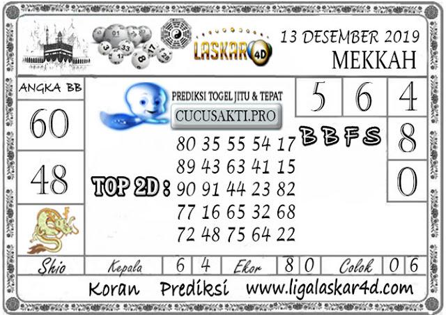 Prediksi Togel MEKKAH LASKAR4D 13 DESEMBER 2019