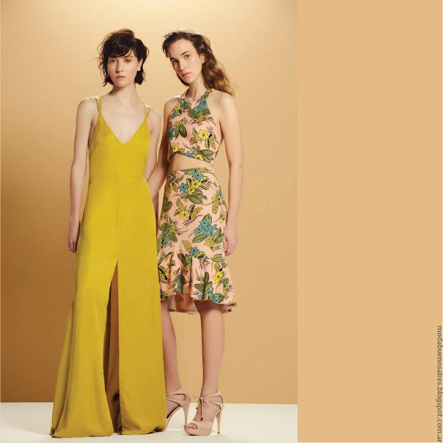 MODA | Monos, faldas, tops moda para fiestas primavera verano 2017.