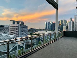 Views of the Marina Bay area, JW Marriott Singapore Beach Road, 2021
