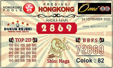 Prediksi Togel Omi88 Hongkong Kamis 24 September 2020
