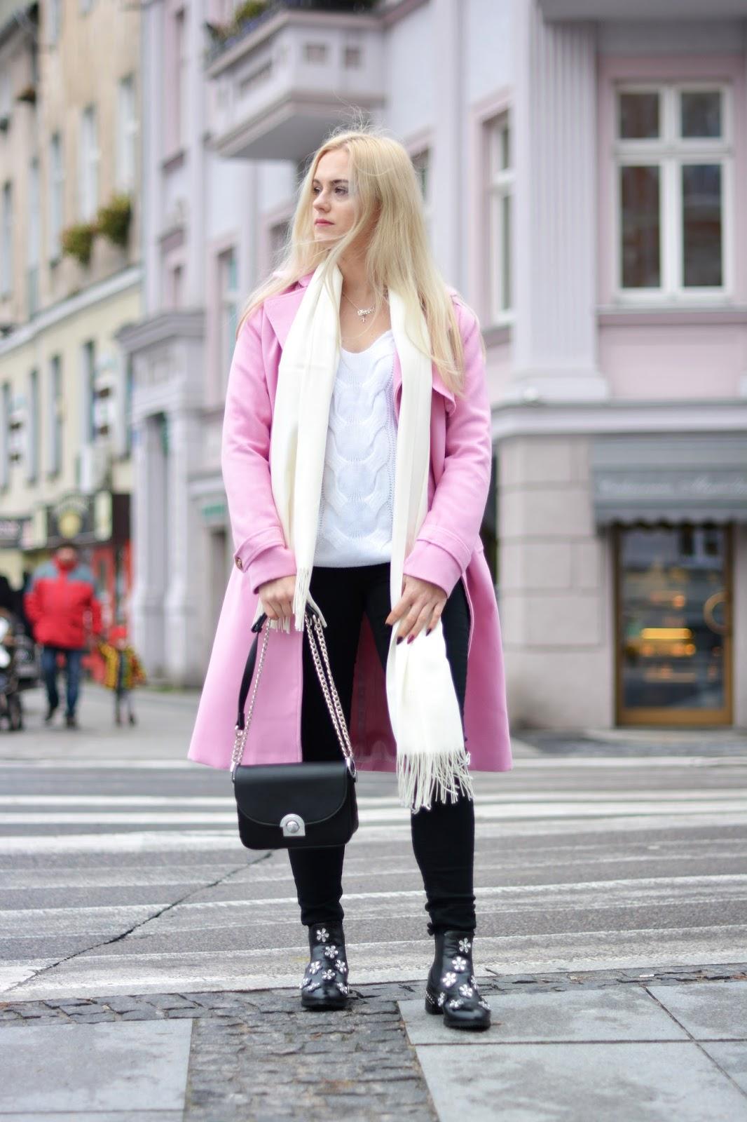 płaszcz stylizacja zima 2017