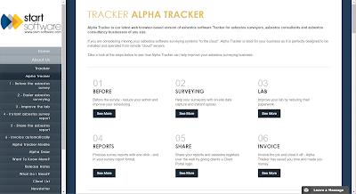 Alpha Tracker App tracks asbestos
