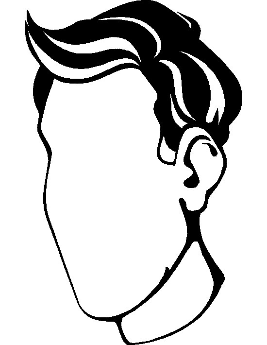 Human Face Outline Coloring Pages