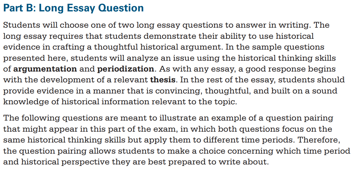 Sample 9 dbq essay rubric