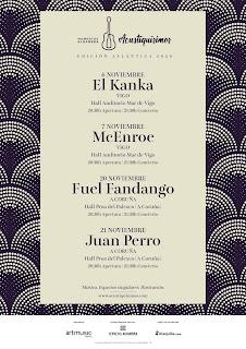 Fuel Fandango presentará Origen el viernes 20 en el hall Proa del Palexco, en A Coruña, escenario en el que Juan Perro pondrá el broche de oro al ciclo en la noche del sábado 21 de noviembre.