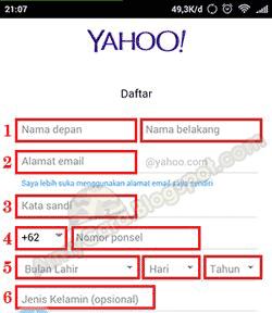 Cara Membuat Alamat Email Lewat Hp - Daftar Yahoo Indonesia Mail