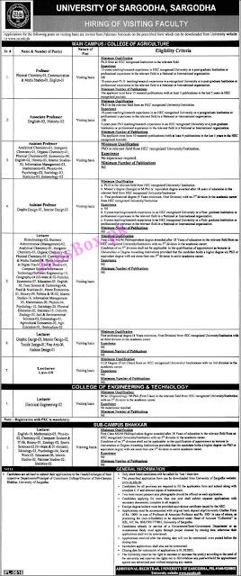 university-of-sargodha-uos-jobs-2021-application-form