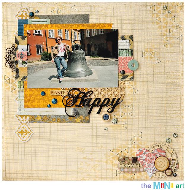 Happy layout | The Mini Art DT @akonitt #layout #scrapbooking #by_marina_gridasova #theminiartdt#